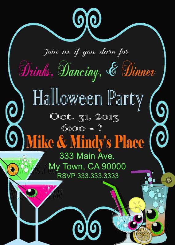 Halloween Birthday Party Invitation Ideas  Halloween Party Invitation fice Party Birthday Party