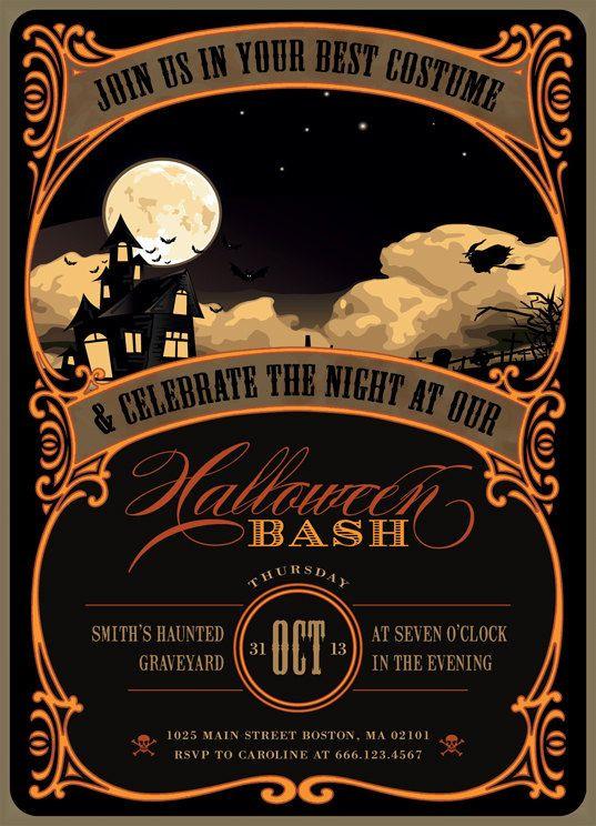 Halloween Birthday Party Invitation Ideas  Halloween Invitation Ideas The Xerxes