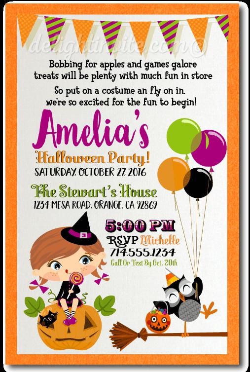 Halloween Birthday Party Invitation Ideas  Halloween Printable