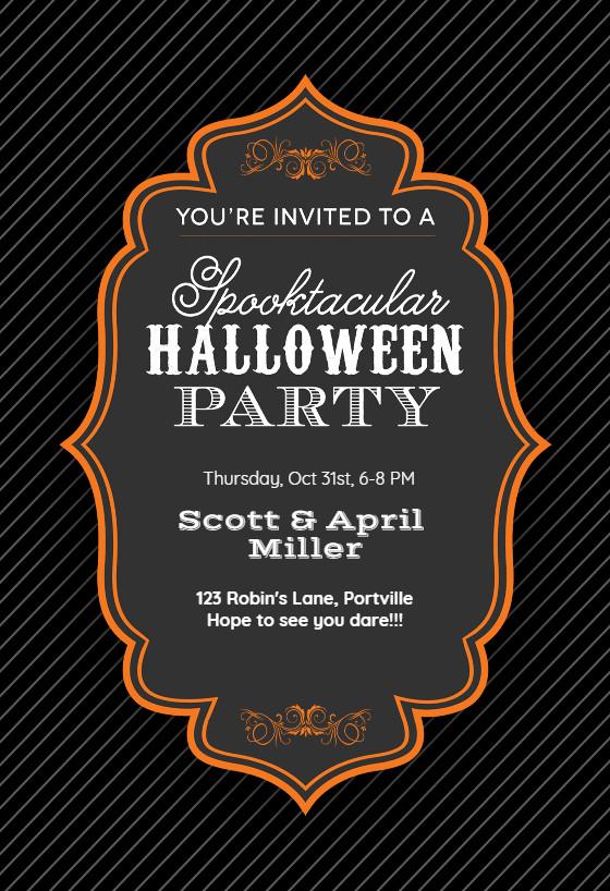 Halloween Birthday Party Invitation Ideas  Spooktacular Halloween Party Halloween Party Invitation