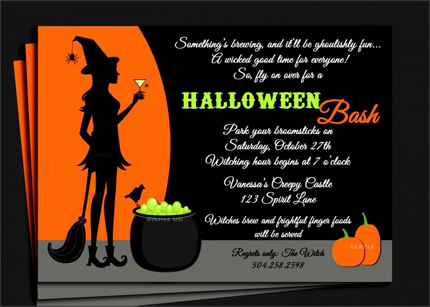 Halloween Birthday Party Invitation Ideas  6 Halloween Invitation Templates Free Word