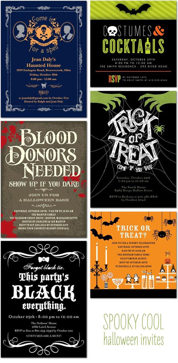 Halloween Birthday Party Invitation Ideas  Halloween Invitation Ideas Invitation Crush