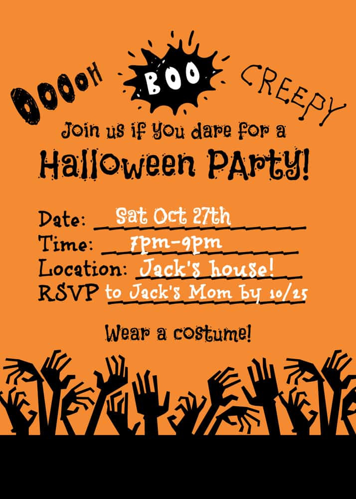 Halloween Birthday Party Invitation Ideas  Halloween Party Ideas for Kids Mom 6