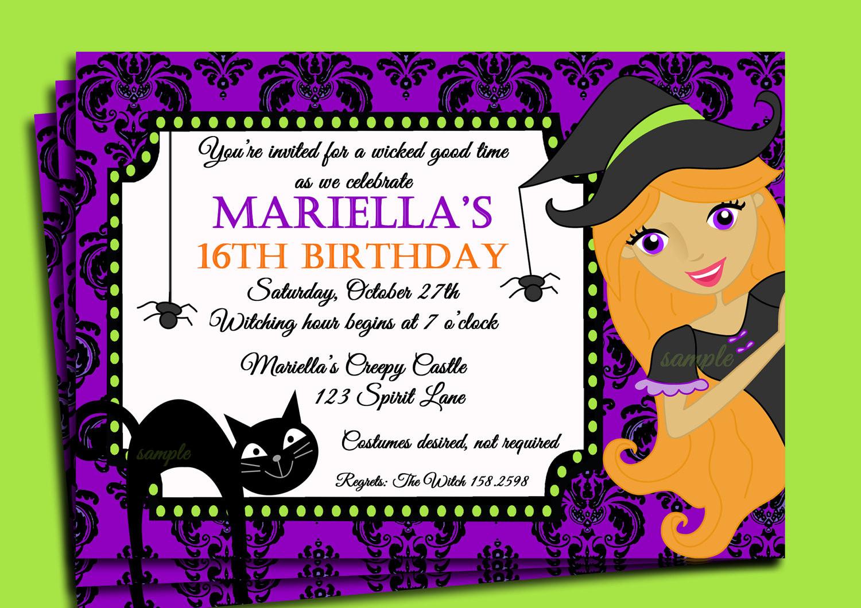 Halloween Birthday Party Invitation Ideas  Halloween Themed Birthday Party Invitations