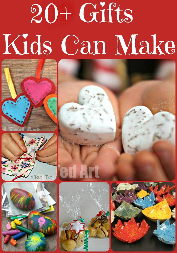 Handmade Gifts From Toddlers  Christmas Gifts Kids Can Make Red Ted Art Make