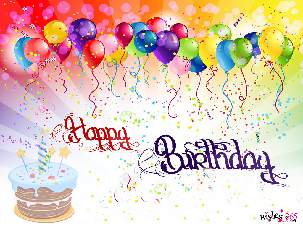 Happy Birthday Cake And Balloons  Poetry and Worldwide Wishes Happy Birthday with
