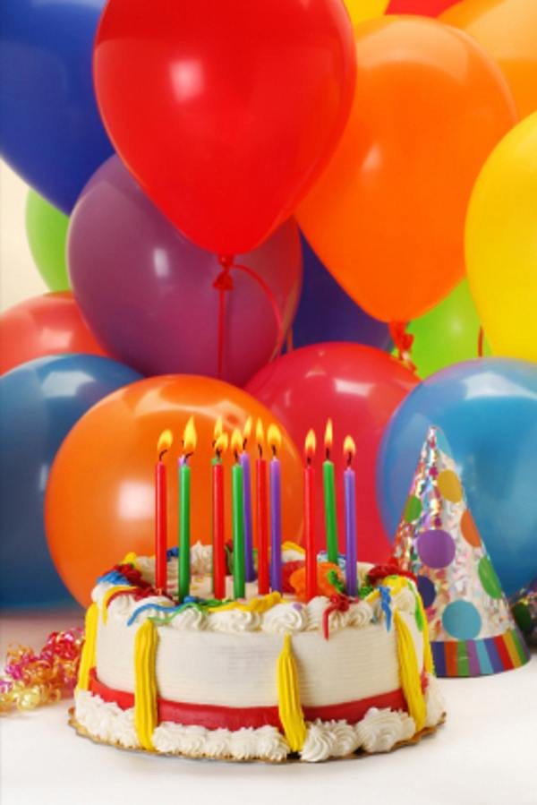 Happy Birthday Cake And Balloons  Balloons Birthday Cakes