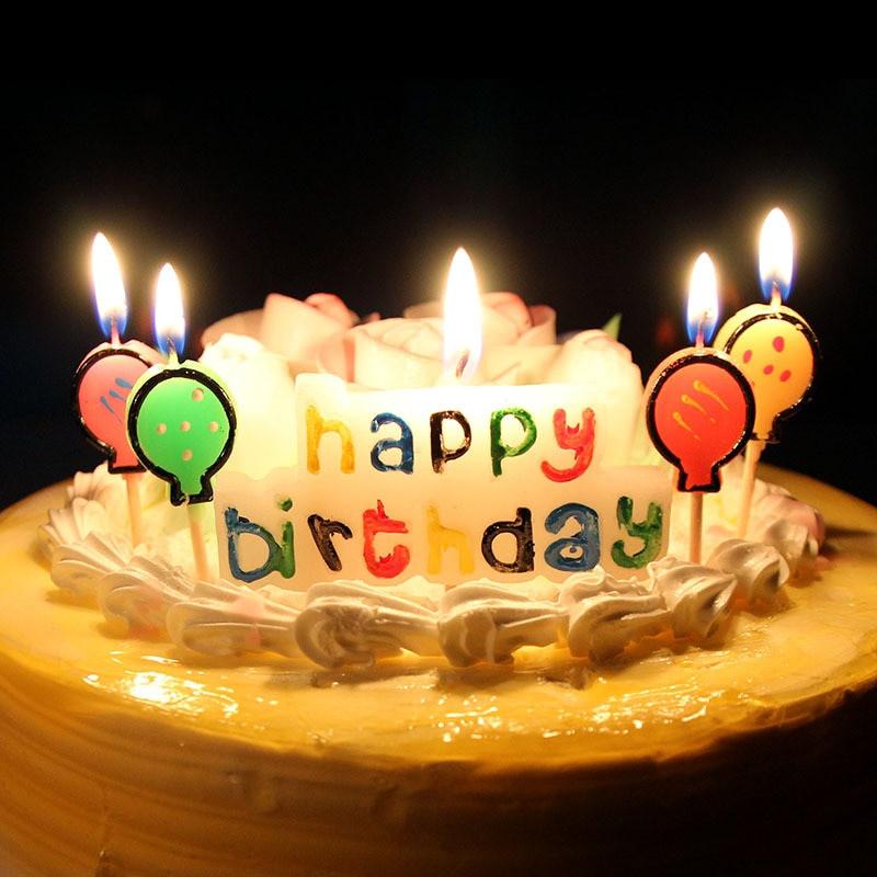 Happy Birthday Cake And Balloons  XUNZHE Birthday Cake Candles Creative Kid s Happy Birthday