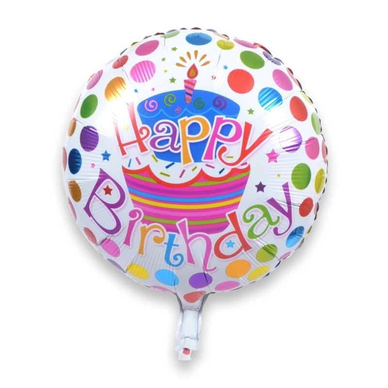 Happy Birthday Cake And Balloons  10pcs lot Birthday Cake Happy Birthday Helium Foil
