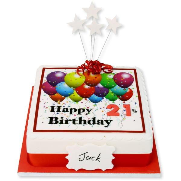 Happy Birthday Cake And Balloons  Happy Birthday Balloons Cake