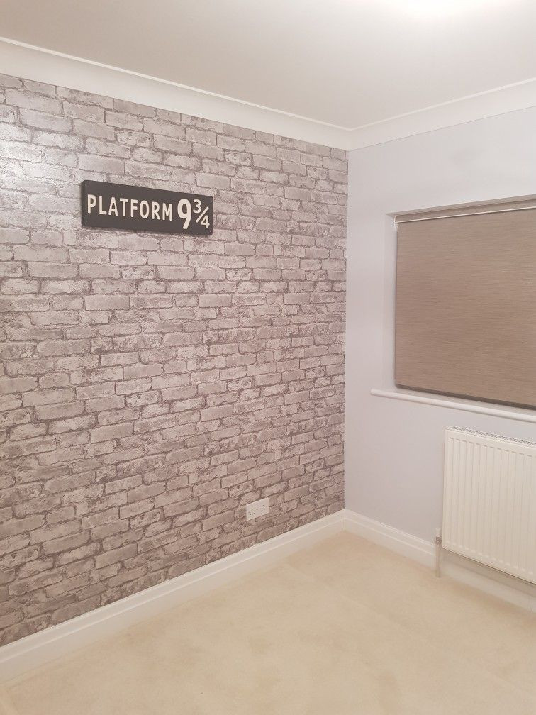 Harry Potter Bedroom Wallpaper  Platform 9 3 4 and brick wall wallpaper Harry Potter
