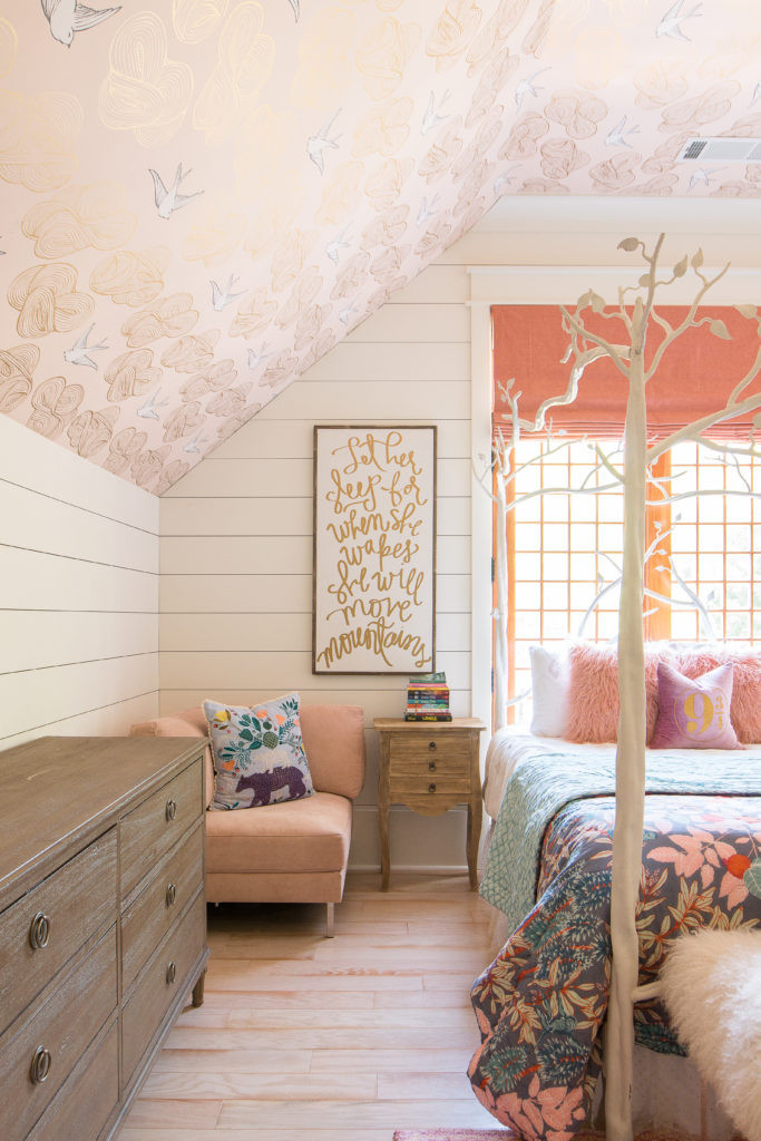 Harry Potter Bedroom Wallpaper  An Update on Addison s Peachy Pink Tween Bedroom & Toy