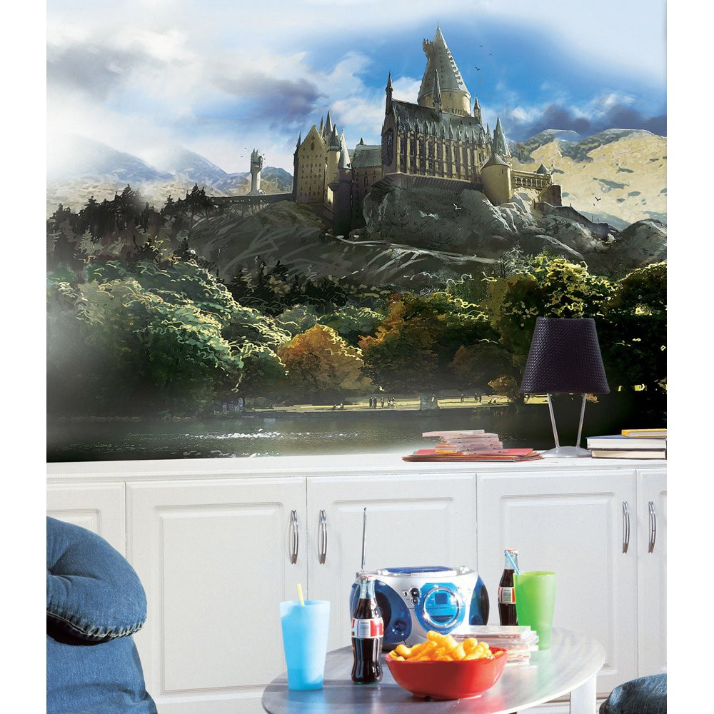 Harry Potter Bedroom Wallpaper  DreamFurniture Harry Potter Chair Rail Prepasted