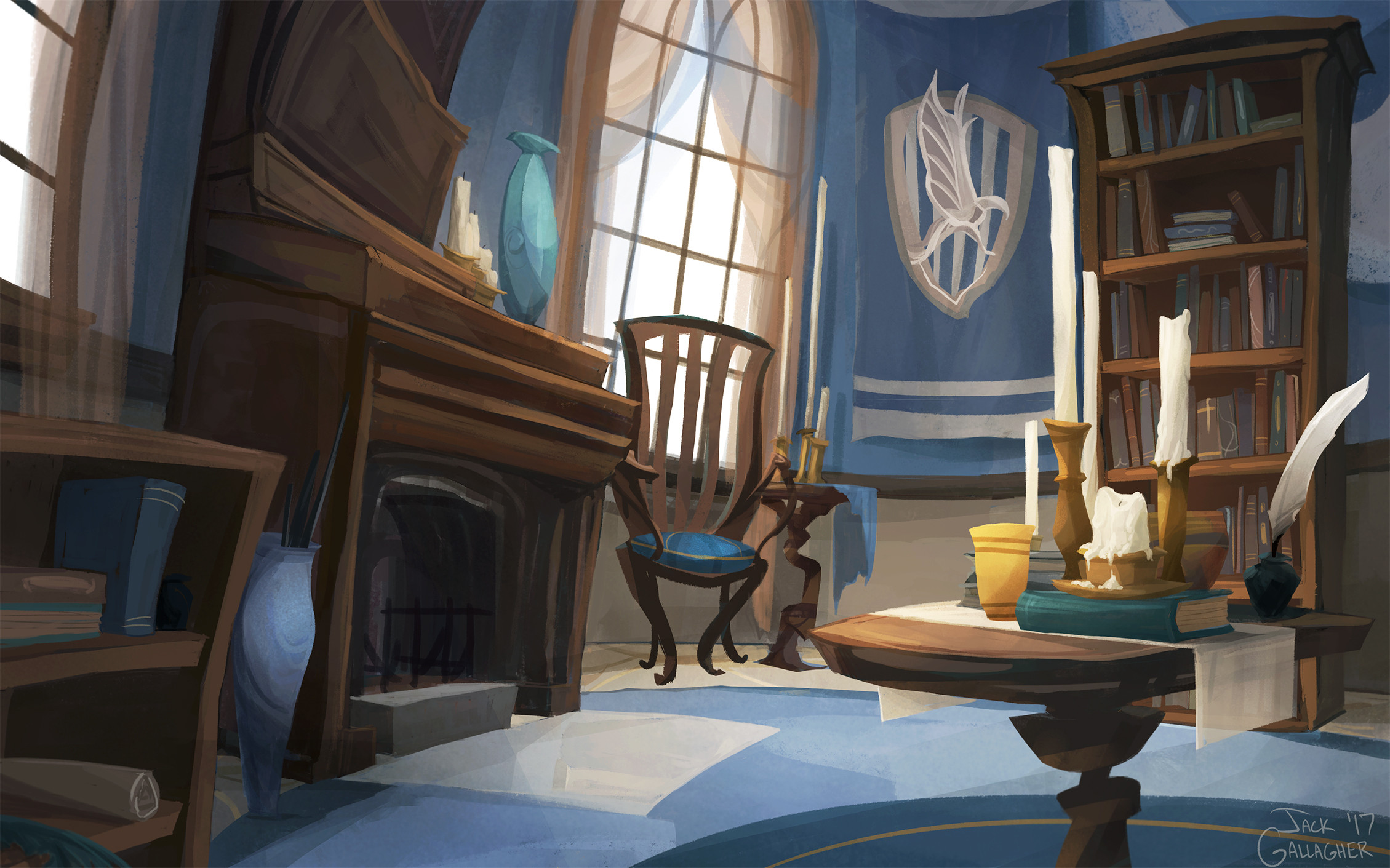 Harry Potter Bedroom Wallpaper  Ravenclaw mon Room by TofuSlaw on DeviantArt
