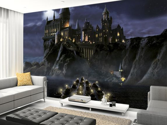 Harry Potter Bedroom Wallpaper  First time to Hogwarts wall mural living room preview