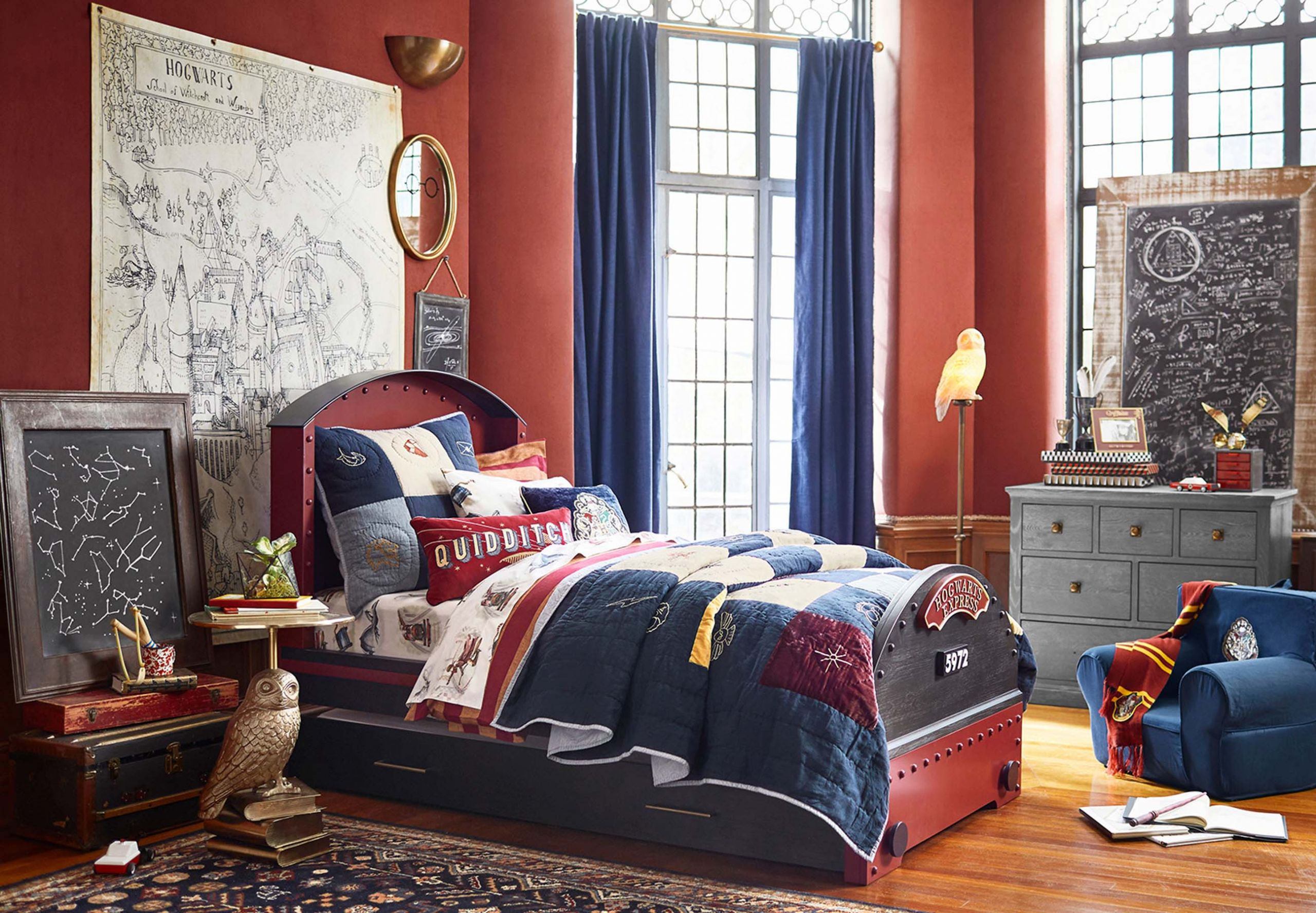 Harry Potter Bedroom Wallpaper  Harry Potter Pottery Barn collection s kids Hogwarts