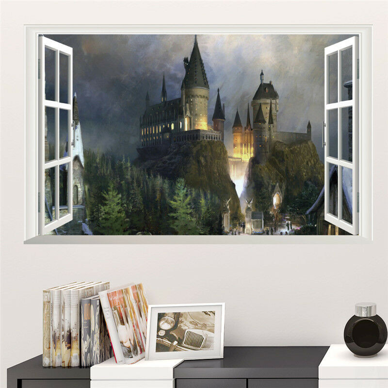 Harry Potter Bedroom Wallpaper  Wallpaper Magic Harry Potter 3D Decal Mural Art Wall