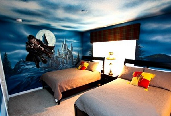 Harry Potter Bedroom Wallpaper  Decorating theme bedrooms Maries Manor Harry Potter