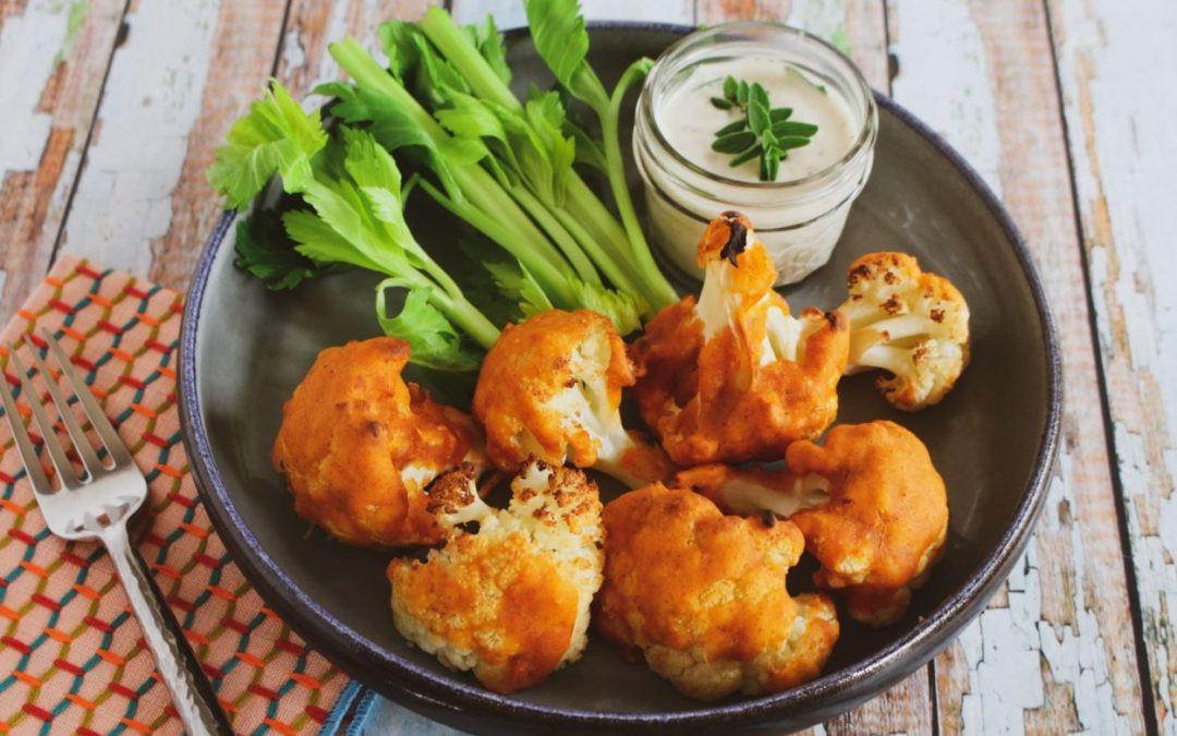 Healthy Buffalo Cauliflower  Healthy Buffalo Cauliflower with Ranch Dip Vegan Gluten