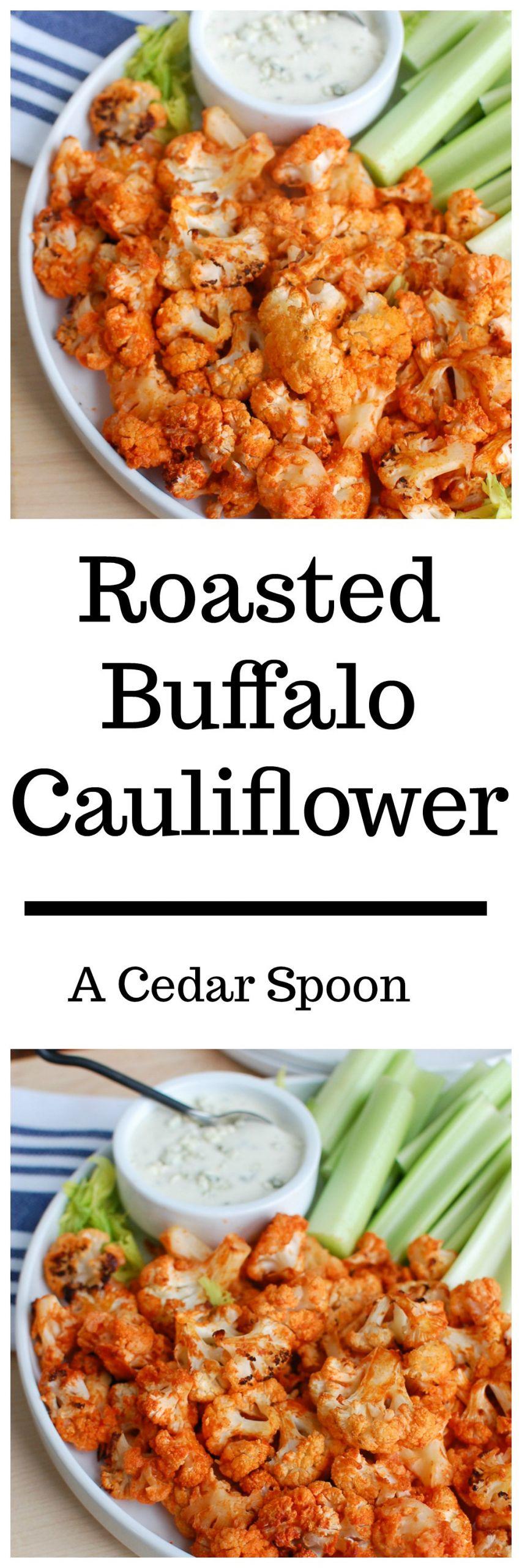 Healthy Buffalo Cauliflower  Roasted Buffalo Cauliflower A Cedar Spoon