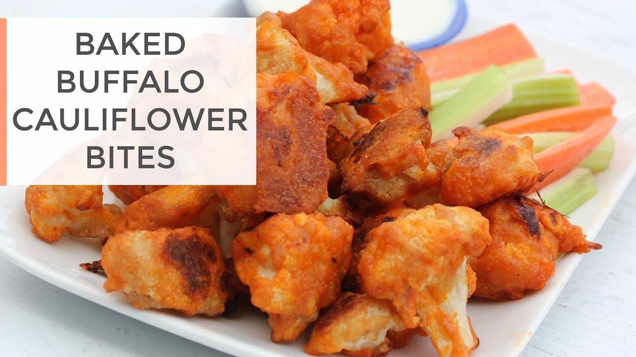 Healthy Buffalo Cauliflower  Baked Buffalo Cauliflower Bites Recipe