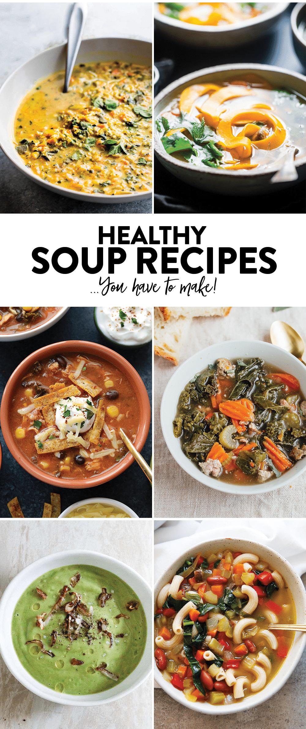 Healthy Soups To Make  Curried Cauliflower Rice Kale Soup Paleo Vegan