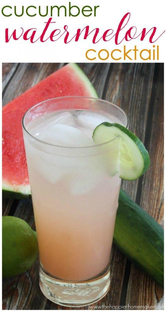Healthy Vodka Drinks  Cucumber Watermelon Cocktail Recipe