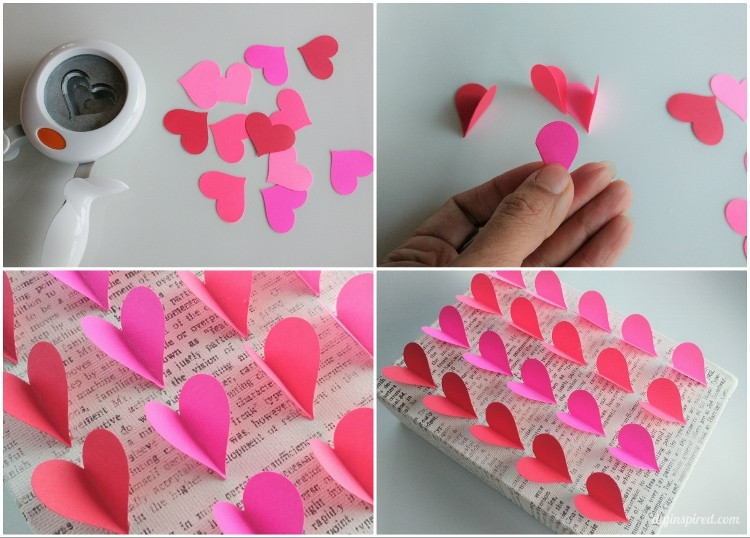 Heart Crafts For Adults  DIY Heart Wall Art DIY Inspired