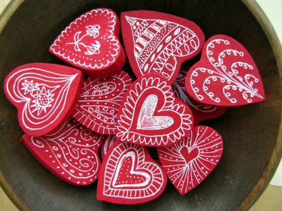 Heart Crafts For Adults  Painted wood Wooden hearts and Heart on Pinterest