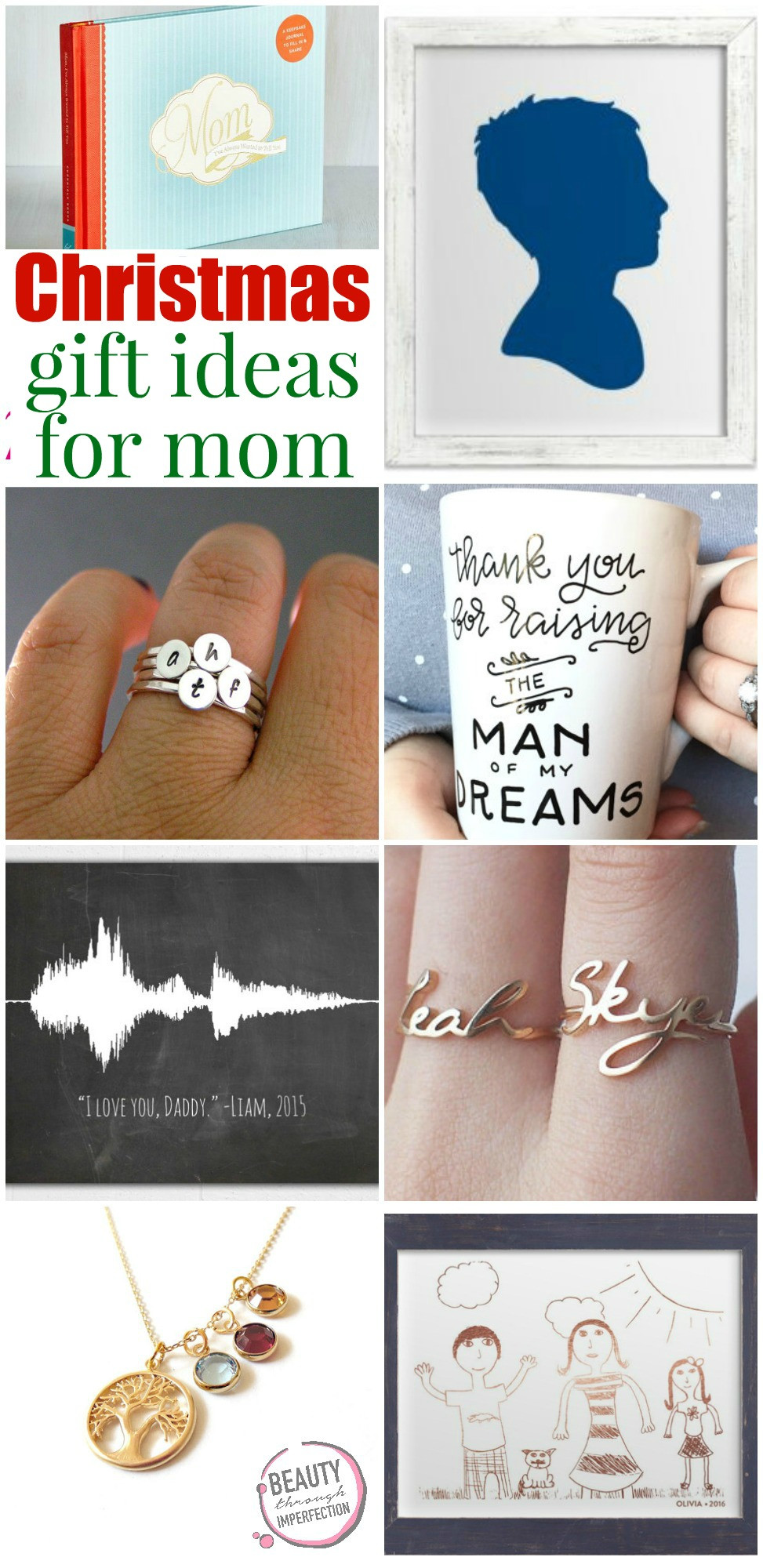 Holiday Gift Ideas For Mom  Mom s t guide Beauty Through Imperfection