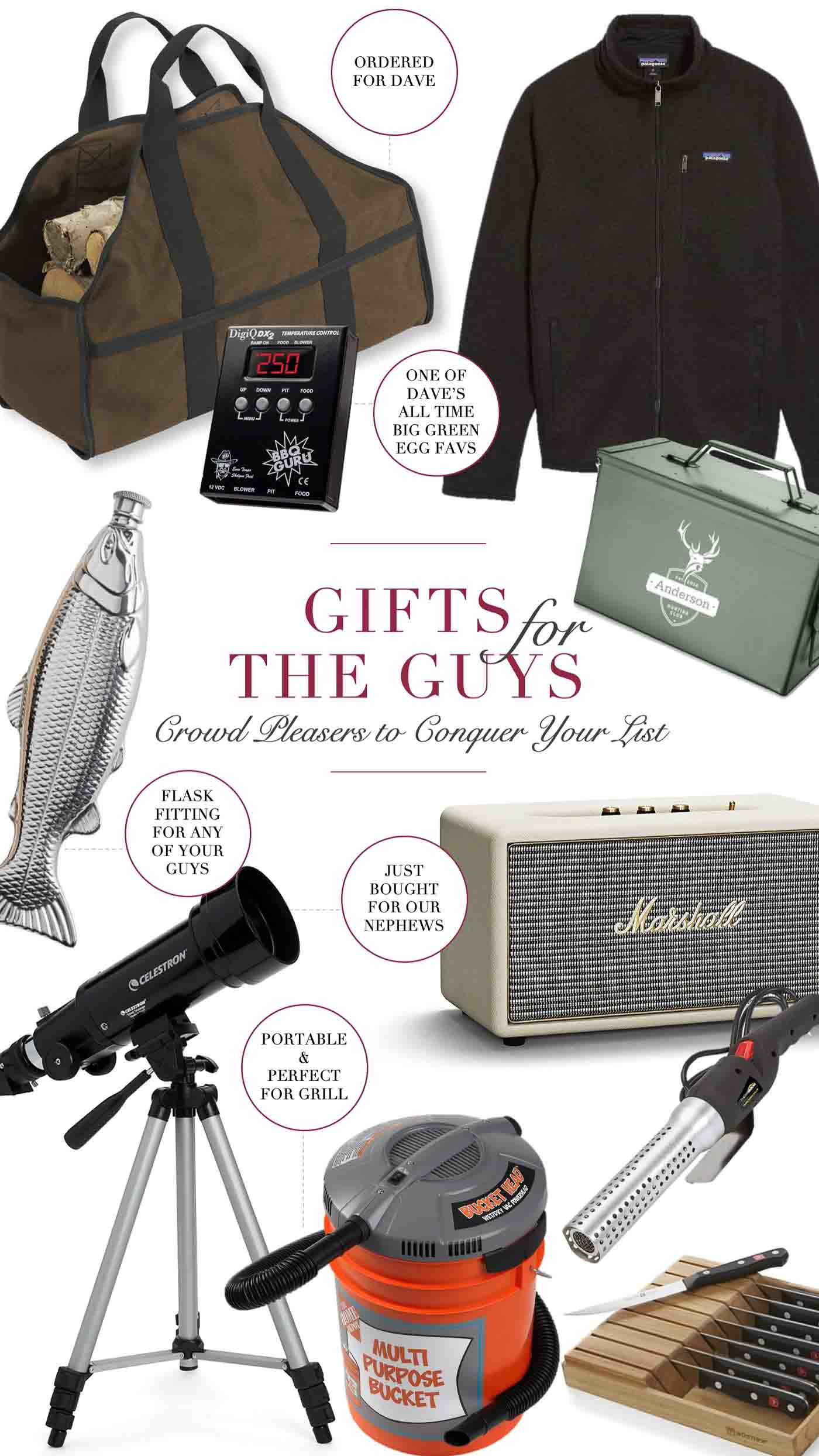 Holiday Gift Ideas Husband  Holiday Gift Ideas for Guys Dads & Brothers Husbands