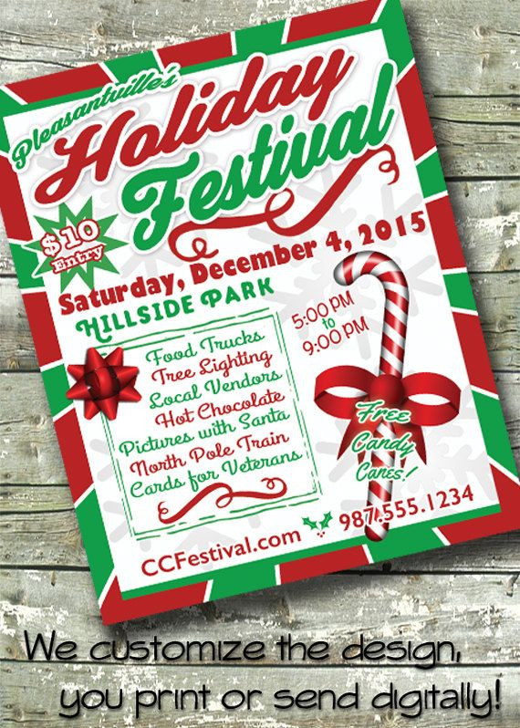 Holiday Party Flyer Ideas  22 best Holiday Flyers images on Pinterest