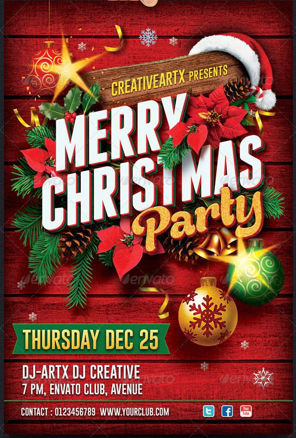 Holiday Party Flyer Ideas  christmas flyer Google Search