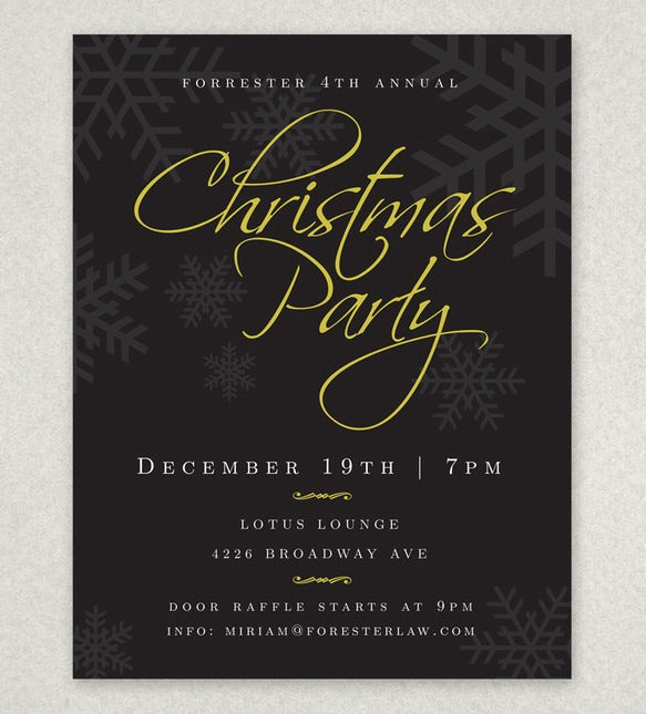 Holiday Party Flyer Ideas  27 Holiday Party Flyer Templates PSD