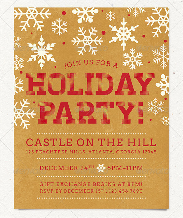 Holiday Party Flyer Ideas  Amazing Holiday Party Flyer Templates 21 Download