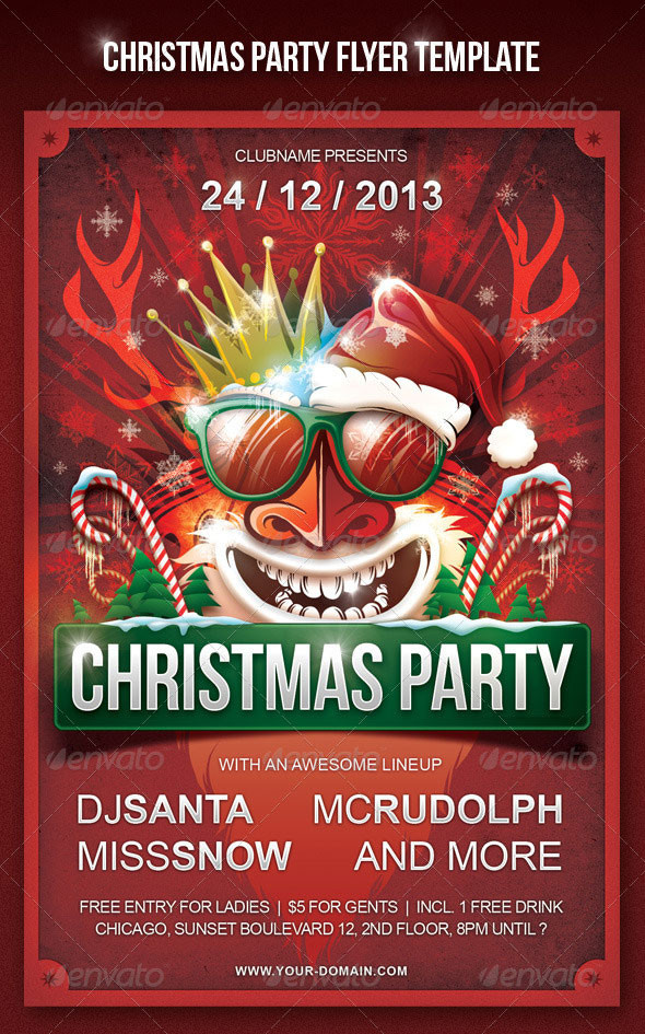 Holiday Party Flyer Ideas  25 Christmas & New Year Party PSD Flyer Templates 2019