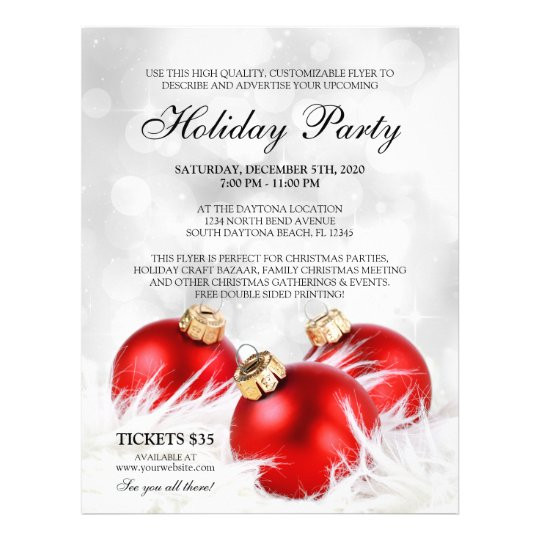 Holiday Party Flyer Ideas  Business Christmas Flyers Holiday Party Flyer