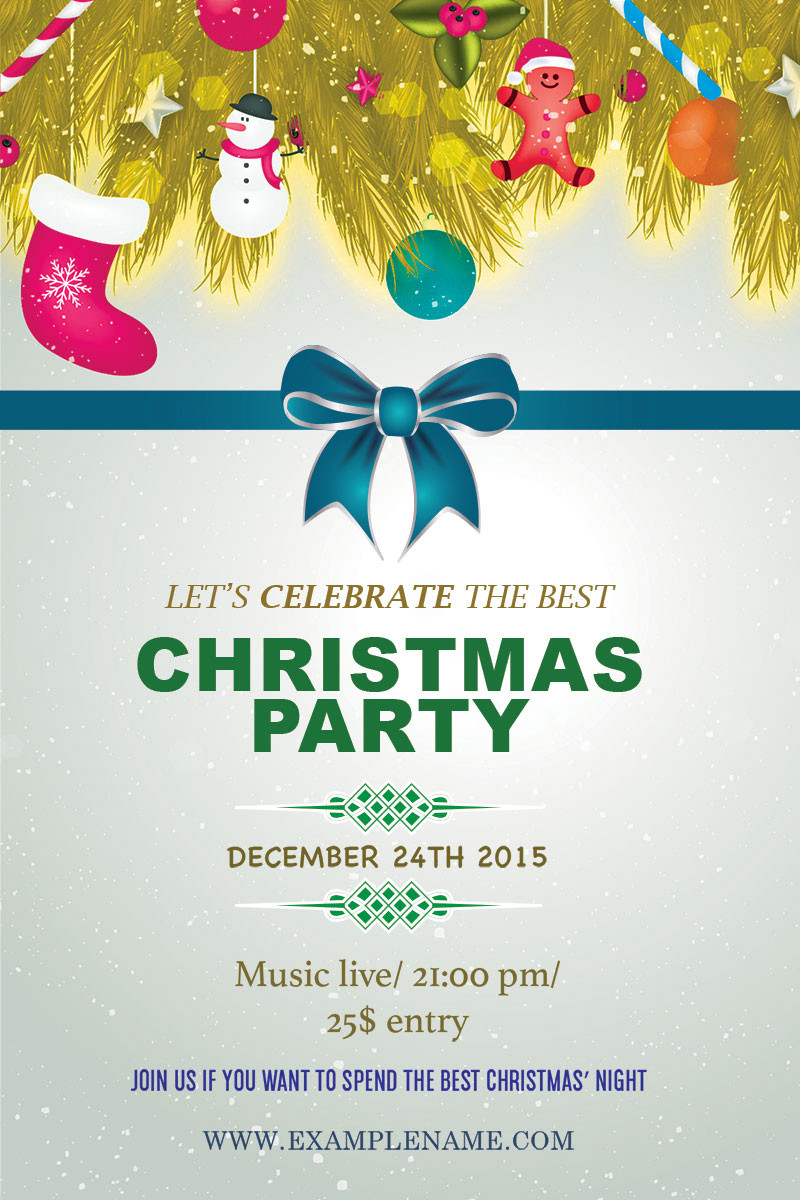 Holiday Party Flyer Ideas  10 Christmas Party Flyers – GraphicLoads
