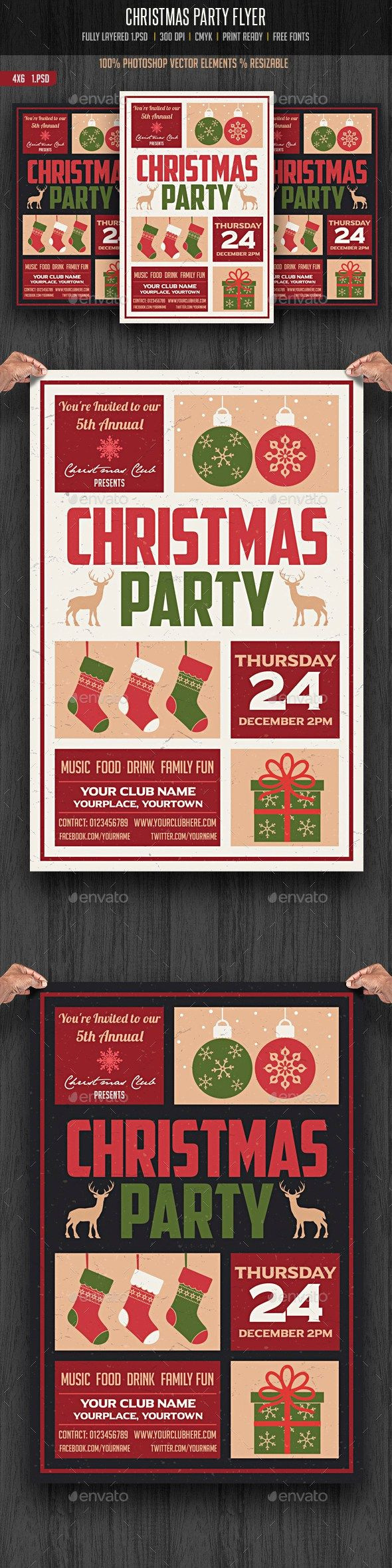 Holiday Party Flyer Ideas  Christmas Party Flyer