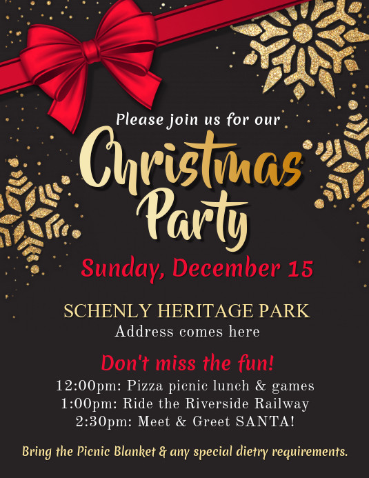 Holiday Party Flyer Ideas  Copy of Christmas Party Flyer Template