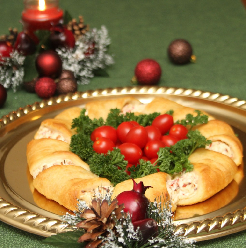 Holiday Party Recipe Ideas  Christmas Wreath Crescent Rolls Appetizer Recipes Just