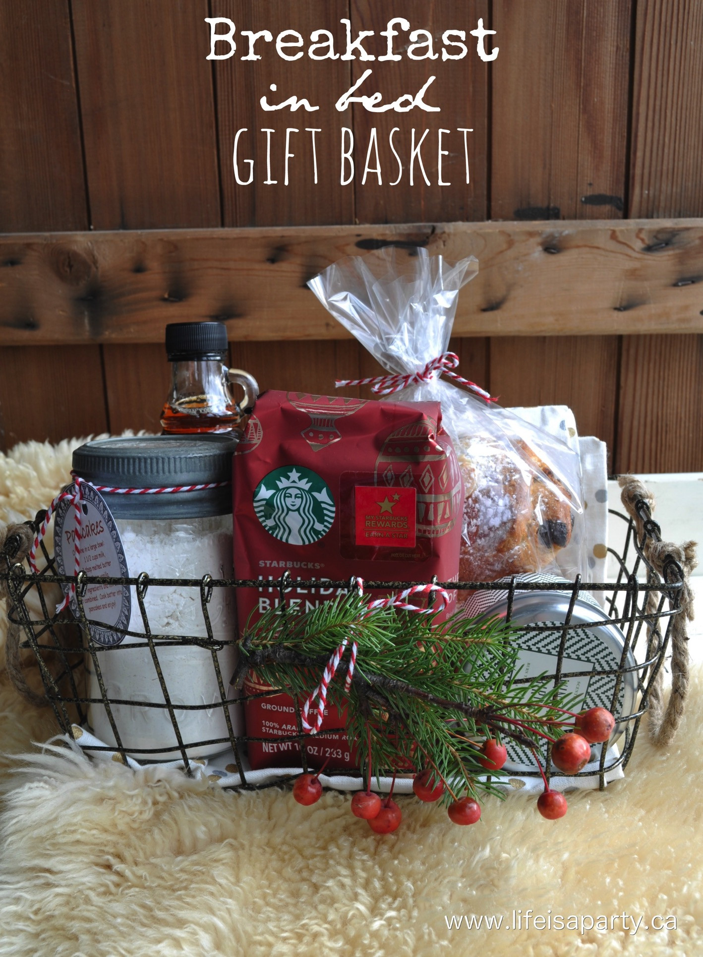 Holiday Safety Gift Ideas  Breakfast in Bed Gift Basket Life is a Party
