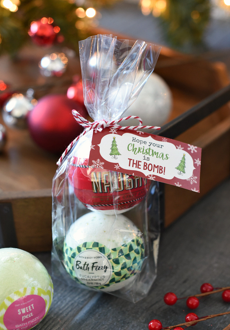 Holiday Safety Gift Ideas  Christmas Bath Bombs Gift Idea for Friends – Fun Squared