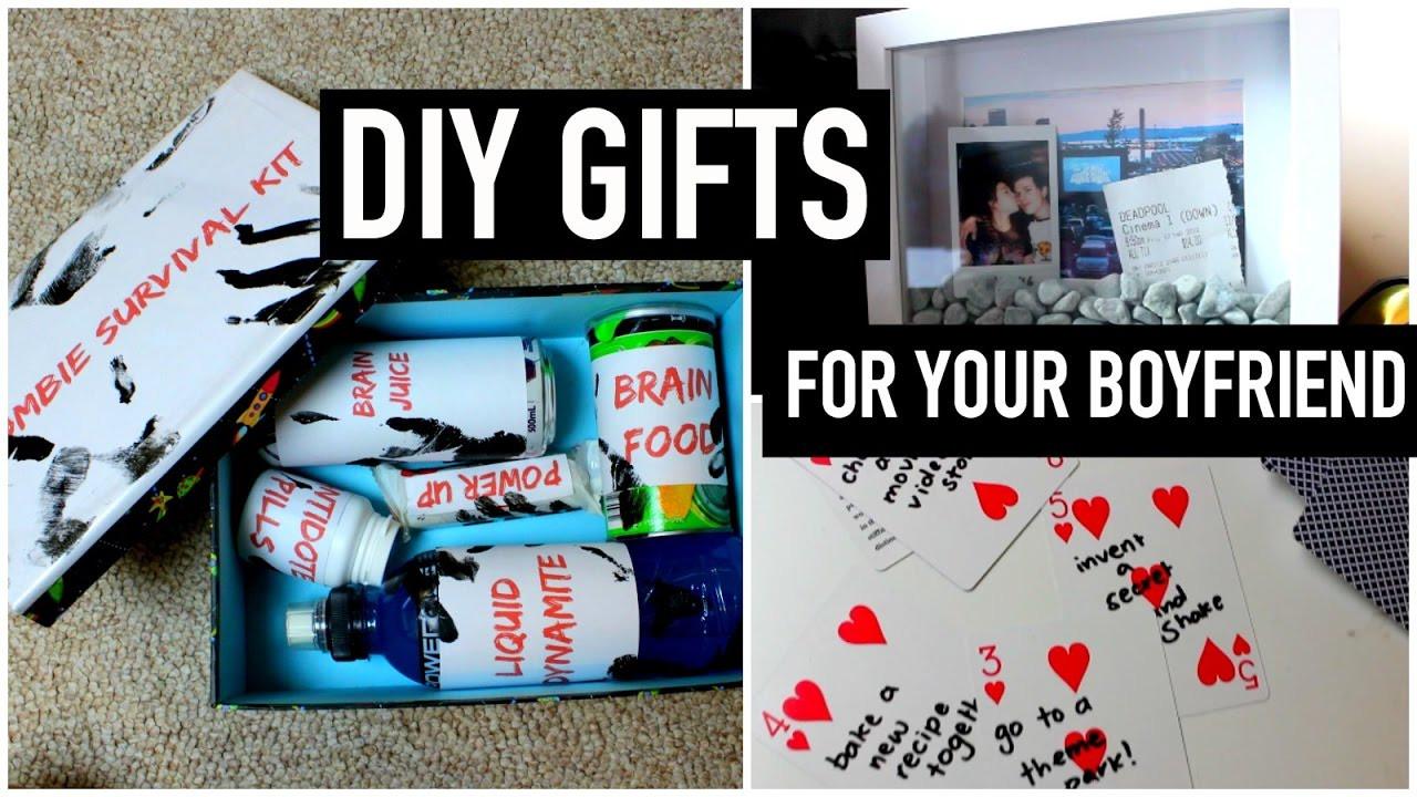 Homemade Gift Ideas Your Boyfriend  DIY Gifts for your boyfriend partner husband etc Last
