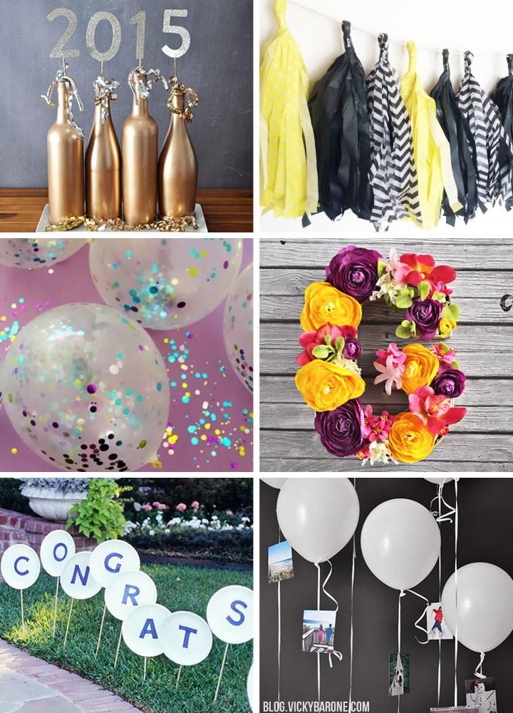 Homemade Graduation Party Decoration Ideas  Graduation Party DIY Decor Ideas Vicky Barone