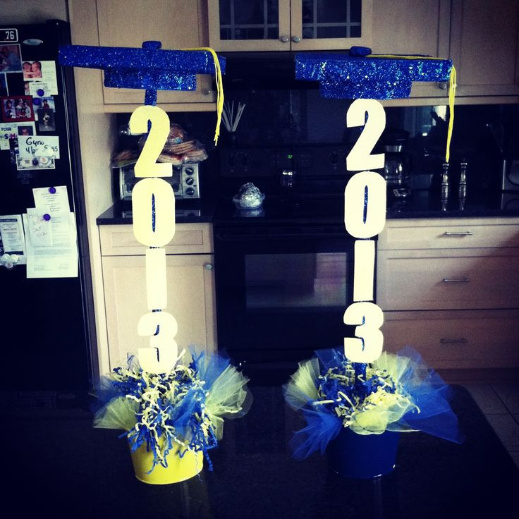 Homemade Graduation Party Decoration Ideas  Graduation Centerpieces