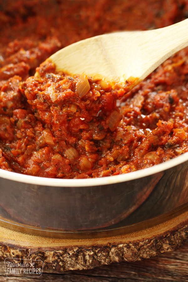 Homemade Spaghetti Sauce From Fresh Tomatoes Real Italian  Pin by Candy Cane on Recipes