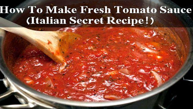 Homemade Spaghetti Sauce From Fresh Tomatoes Real Italian  Authentic italian spaghetti sauce recipe fresh tomatoes