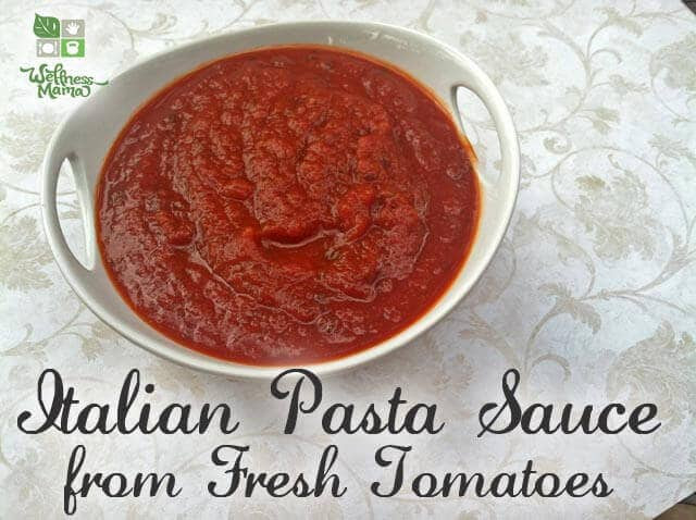 Homemade Spaghetti Sauce From Fresh Tomatoes Real Italian  Authentic Homemade Pasta Sauce Fresh or Canned Tomatoes