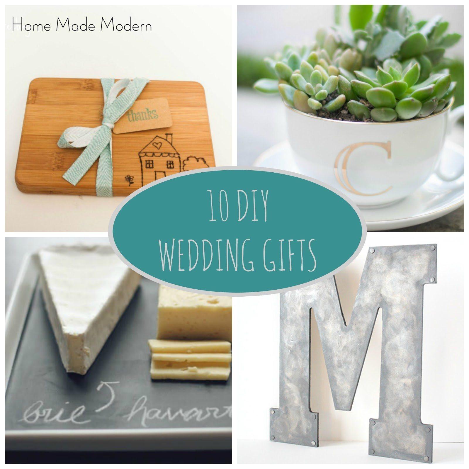 Homemade Wedding Gifts  DIY Wedding Gifts Home Made Modern